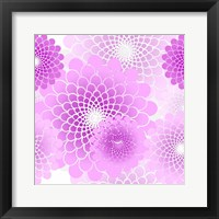 Framed Spiral Flowers Pattern Pink