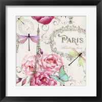 Framed Paris Flower Market Pattern