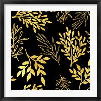 Framed Golden Leaves Pattern