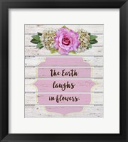 Framed Earth Laughs In Flowers