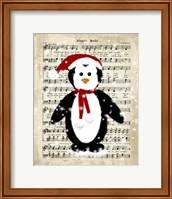 Framed Christmas Penguin