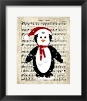 Framed Christmas Penguin