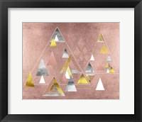 Framed Park Avenue Abstract Geometric Christmas Trees