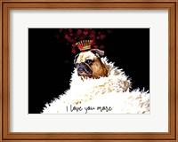 Framed Pug Love