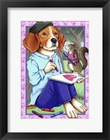 Framed Beagle Artist