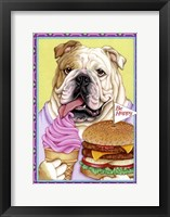 Framed Bulldog Hamburger