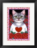 Framed Cat Roses