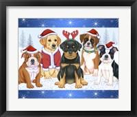 Framed Christmas Pups