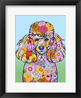 Framed Flowers Poodle