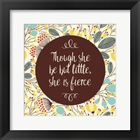 Framed Though She Be But Little - Retro Floral White