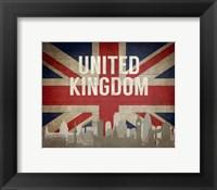 Framed London, United Kingdom - Flags and Skyline