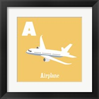 Framed Transportation Alphabet - A is for Airplane