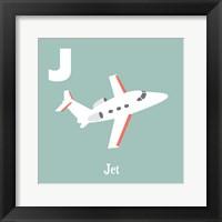 Transportation Alphabet - J is for Jet Framed Print