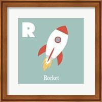 Framed Transportation Alphabet - R is for Rocket