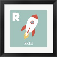 Framed Transportation Alphabet - R is for Rocket