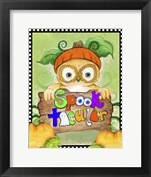 Framed Spooktacular Owl