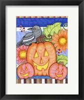 Framed Crows Pumpkin Patch