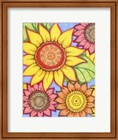 Framed Sunflower Zen