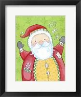 Framed Happy Santa