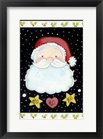 Framed Ho Ho Santa Claus