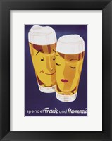 Framed Female Male Beer