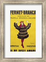 Framed Fernet Branca Yellow