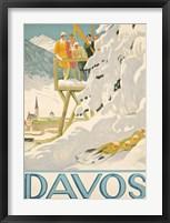 Framed Davos Skiing