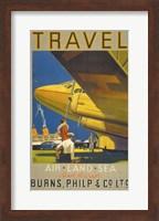 Framed Art Deco Airplane Travel
