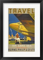 Framed Art Deco Airplane Travel