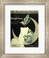Framed Art Deco Music Sheet
