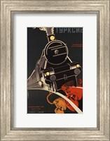 Framed Art Deco Railroad Russia
