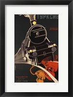 Framed Art Deco Railroad Russia