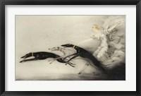 Framed Art Deco Woman Greyhounds