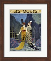 Framed Art Deco Fashion Ladies