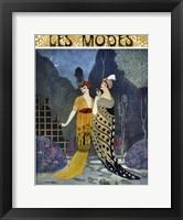 Framed Art Deco Fashion Ladies