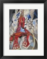 Framed Red Eiffel Tower Delaunay 1911