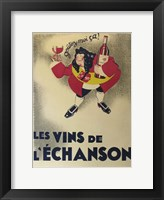 Framed French Wine