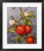 Framed Chickadees and Apples