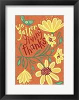 Framed Giving Thanks
