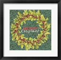 Framed Holly Wreath