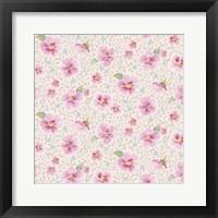 Framed Pink Blossoms Pattern
