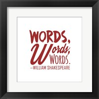 Framed Words Words Words Shakespeare Red