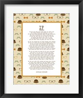 Framed If by Rudyard Kipling - Retro Orange