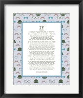 Framed If by Rudyard Kipling - Retro Blue