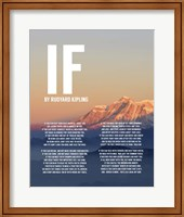 Framed If by Rudyard Kipling - Mountain Sunset