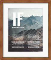 Framed If by Rudyard Kipling - Mountains