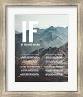 Framed If by Rudyard Kipling - Mountains