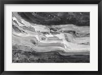 Framed Currents Gray Black White