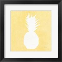 Framed Tropical Fun Pineapple Silhouette II