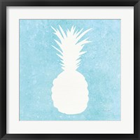 Framed Tropical Fun Pineapple Silhouette I